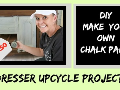 DIY: Upcycle a Dresser (Part 1) Homemade Chalk Paint with Plaster Paris