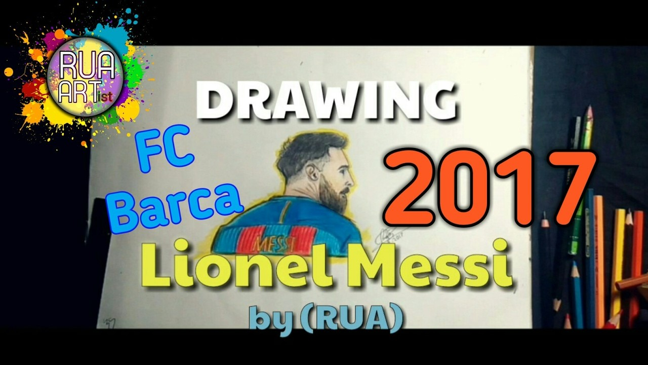 how to draw messi 2017 step by step