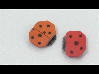 Easy Origami How to Make Ladybird 简单手工折纸 瓢蟲.簡単折り紙 天道虫です