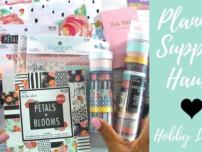 Hobby Lobby Haul | Petals and Blooms, Washi Tape, Planner Stickers, Faux Leather Fabric