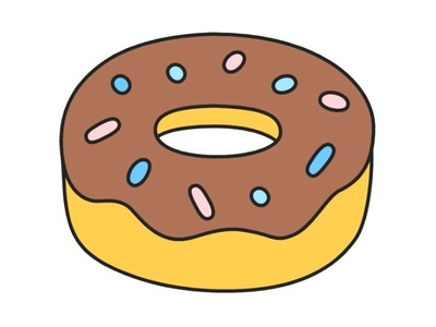 How to draw a Cute Donut Emoji Quick and Easy