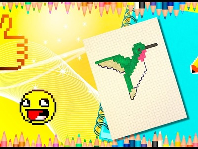 How to draw a Hummingbird? Pixel Hummingbird How to draw a bird?