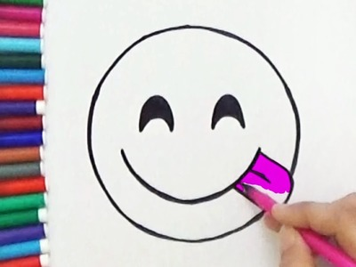 How To Draw Face Savouring Delicious Food Emoji - Cute and Easy | BoDraw