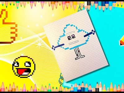 How to draw Trolls? How to draw Cloud from Trolls? Pixel Trolls' cloud.