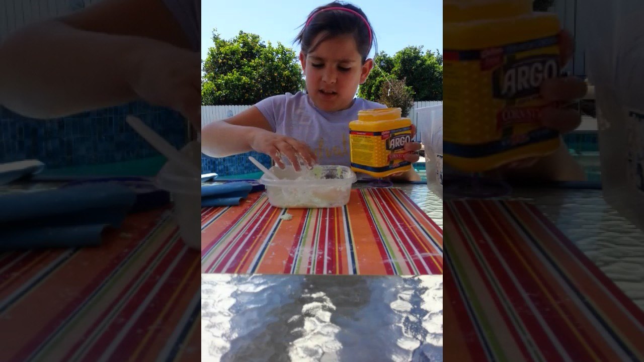 How to make butter slime with only cornstarch,  shampoo, and lotion