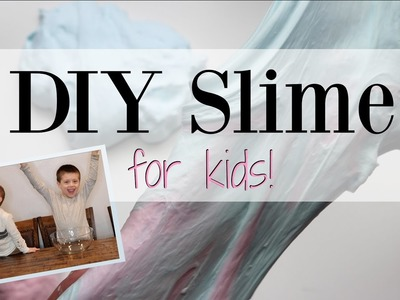 How To Make DIY Fluffy Slime for Kids - Slime 101 ♡ NaturallyThriftyMom