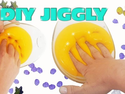 How to make jiggly slime| yellow