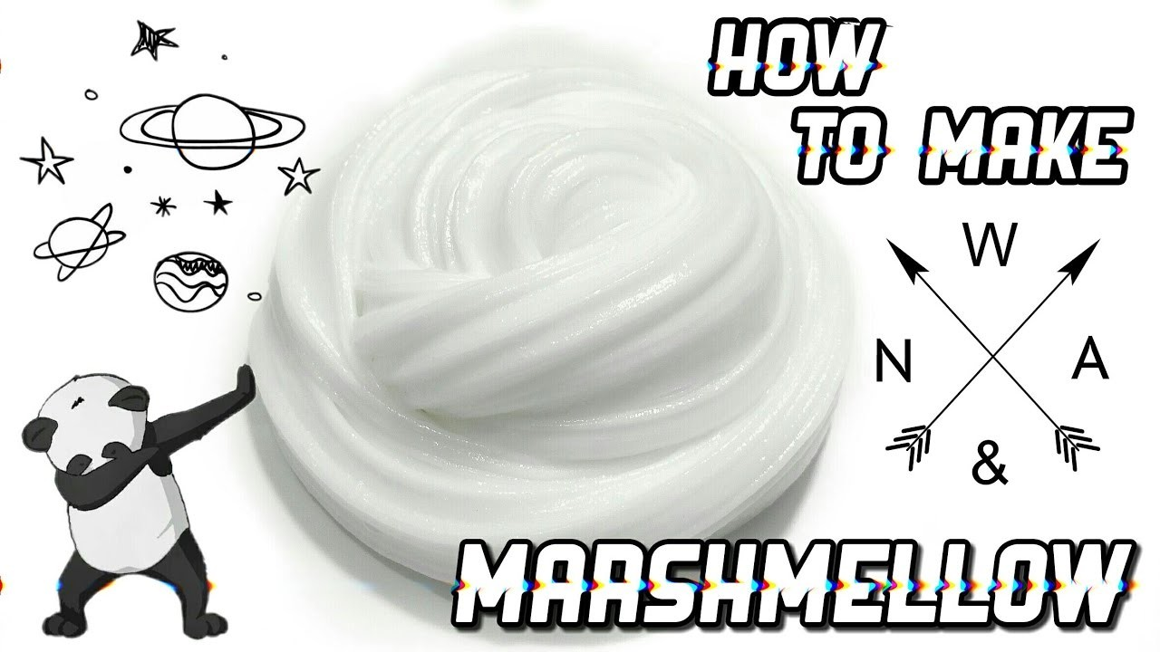 How to make marshmellow slime with conditioner - DIY Marshmellow slime EASY
