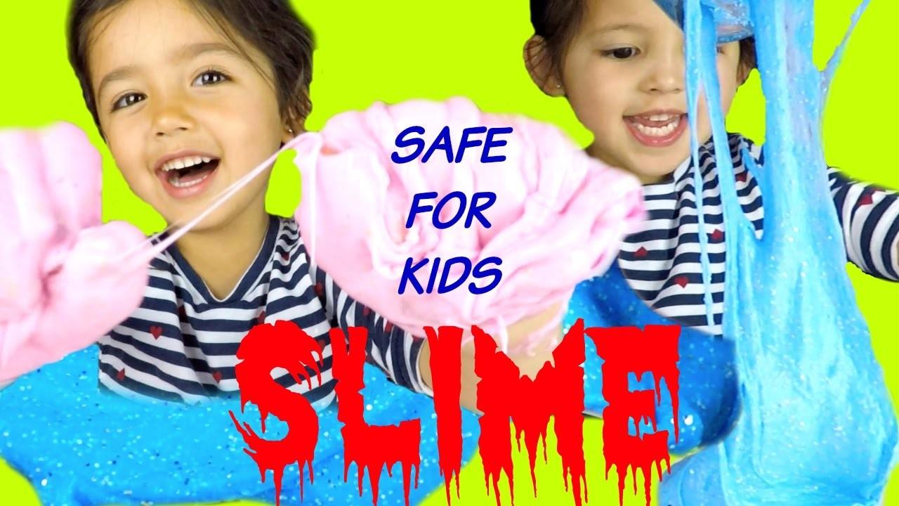 HOW TO MAKE SLIME SAFE FOR KIDS