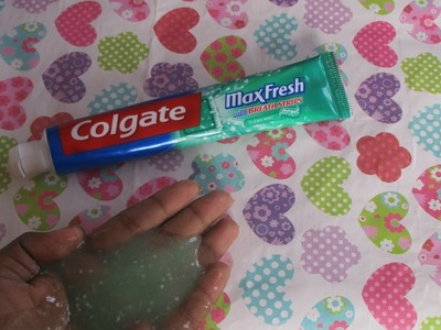 How to make slime with Colgate toothpaste | easy tutorial |
