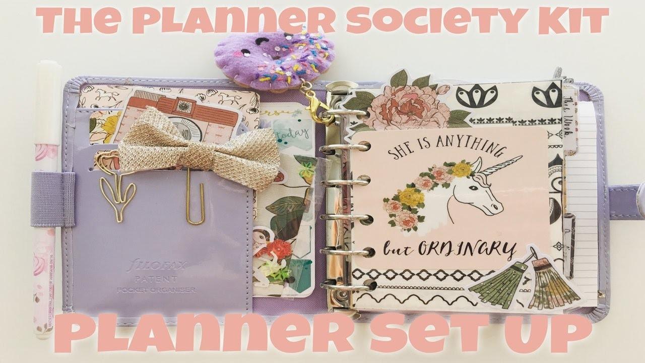 May 2017 Pocket Planner Set Up ft. The April Planner Society Kit   Filofax Patent Lavender