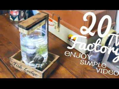 Mini aquarium stand DIY. 100均DIY.