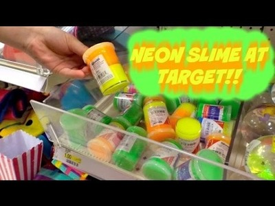 NEW NEON SLIME AT TARGET FOR $1!!!!
