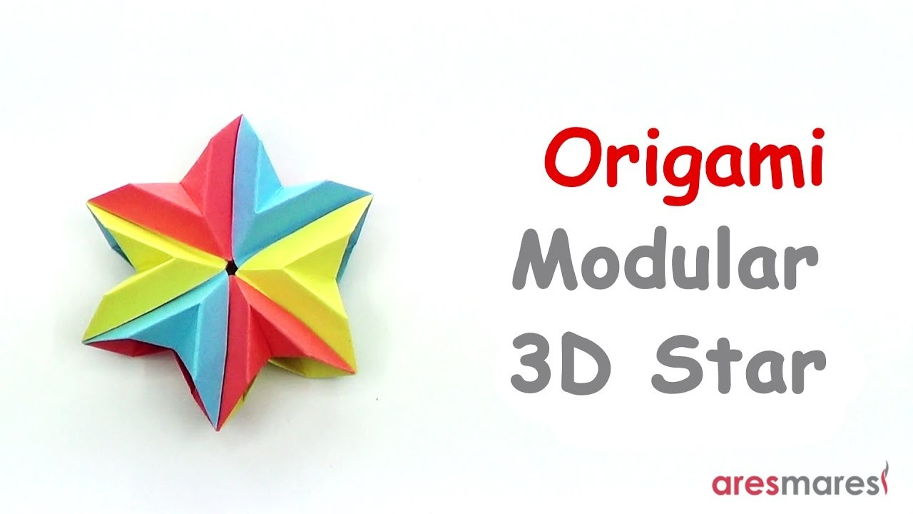 Origami 3d modular star easy modular my crafts and for How to make 3d paper stars easy