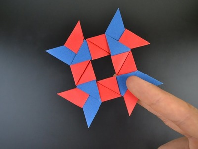 Origami: 8-Pointed Ninja Star. Shuriken - Instructions in English (BR)