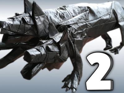 Origami Cerberus Tutorial (Satoshi Kamiya) Part 2.3 - Collapsing