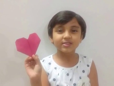 Origami Heart for Kids, Learn Easy and Step by Step Origami for Kids under 5