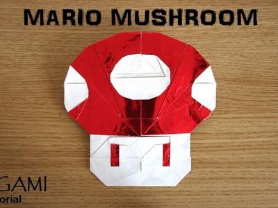 Origami Mario Mushroom tutorial (Mike Luo)  折り紙  マリオキノコ  оригами Марио гриб