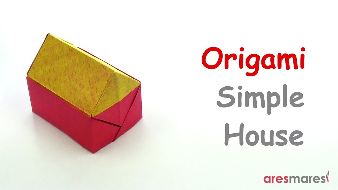 Square origami simple house easy single sheet for Simple single