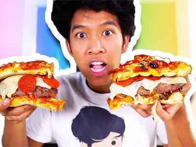Pizza Burger! DIY HOW TO MAKE!! TASTE TEST!