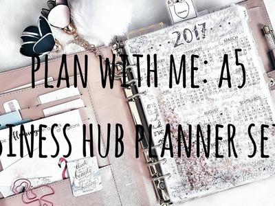 Plan with Me: A5 Business Hub Planner Setup
