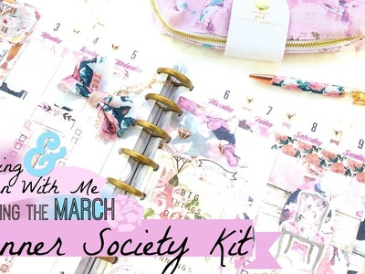 Planner Society Kit Unboxing and Plan With Me in a Happy Planner | March