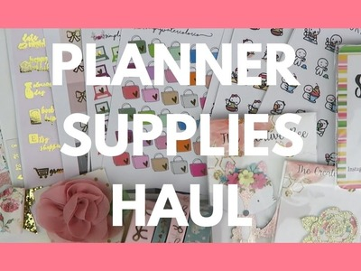 PLANNER SUPPLIES HAUL. Clips, Stickers, and New Shops!