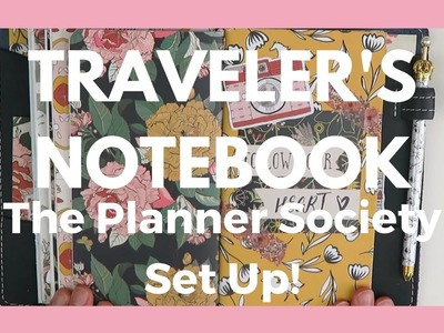 TRAVELER'S NOTEBOOK. Set Up With April The Planner Society Kit!