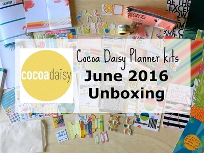 Unboxing: Cocoa Daisy Planner kits - June 2017