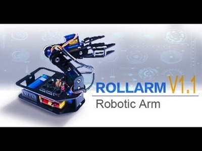Updated - Rollarm DIY Servo Control Robotic Arm Kit V1.1 for Arduino Project