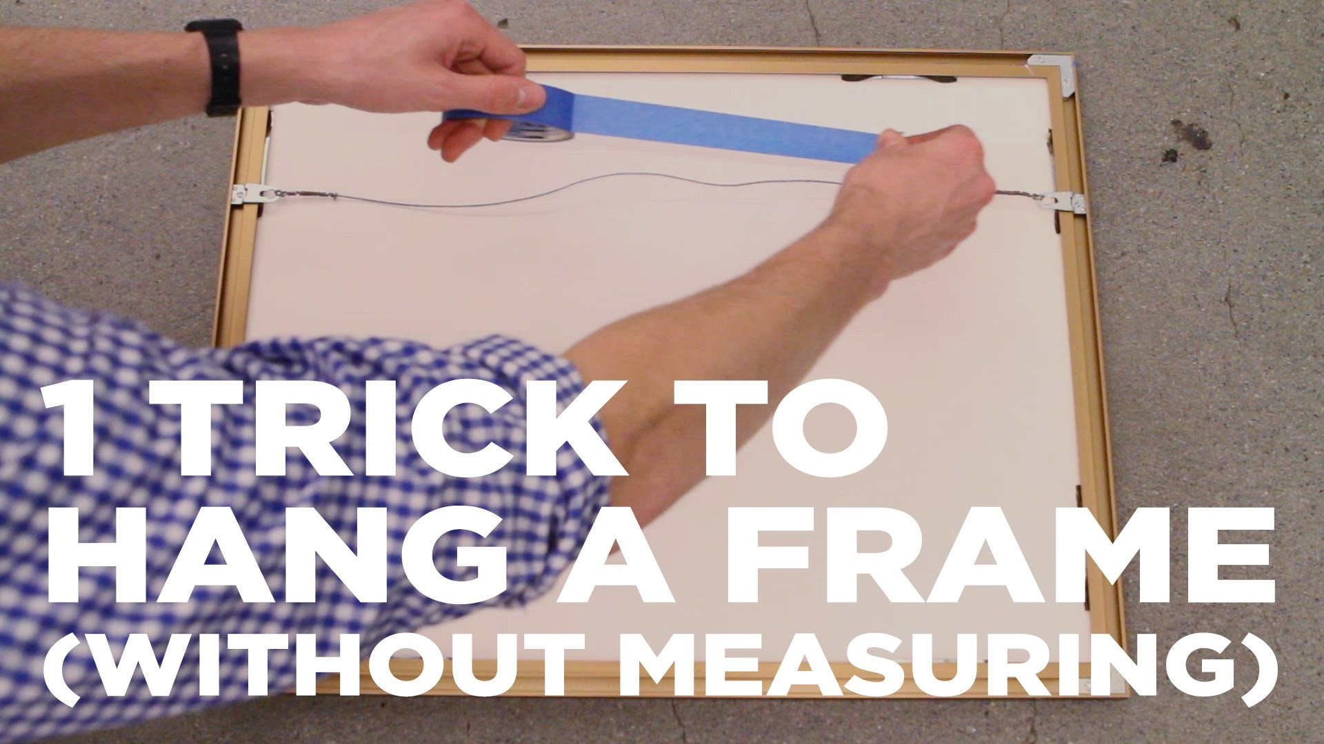 1 simple trick for how to hang a picture frame