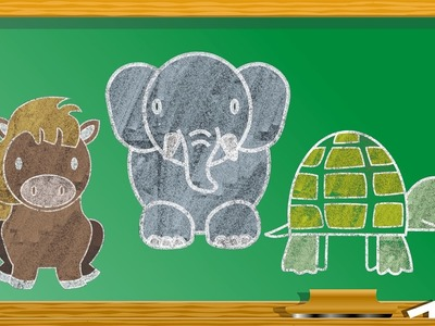 12 Easy Animals Drawings For Kids Vol. 1 | Step By Step Drawing Tutorials | How To Draw Animals