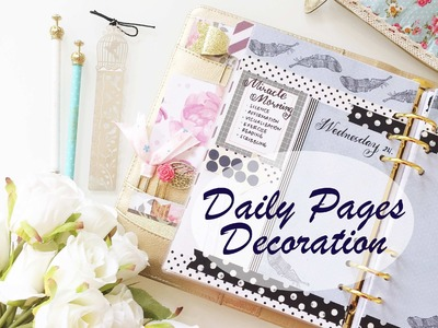 #9 How I set up my daily pages for my kikki.k planner | DECORATE WITH ME