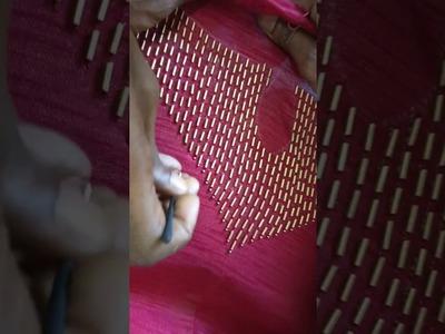 A special embroidery design for a Kurta neck