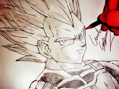 Como Desenhar o Vegeta USSJ [Super Vegeta] - (How to Draw Super Vegeta) - SLAY DESENHOS #43
