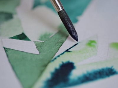 Creation of Watercolor Prints for digital printing on a silk fabric