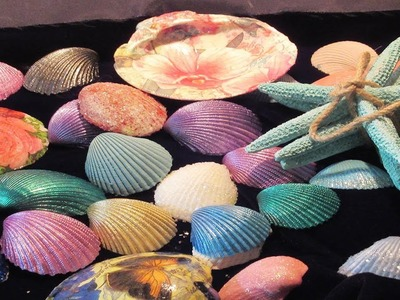 DIY 5 different ways to decorate seashells shells