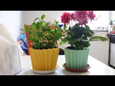 Diy Bastelidee für Blumentöpfe ! - Craft Ideas for Flowerpot !