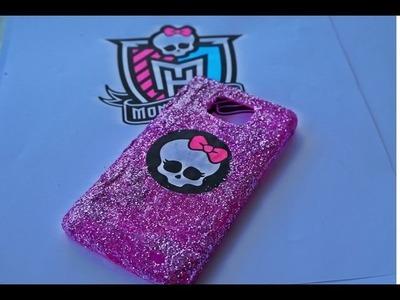 DIY: Glitter Capinha de celular da Monster High|  Monster High phone case(DIY)