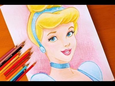 Drawing:  PRINCESS CINDERELLA   Disney   BUDGET ART