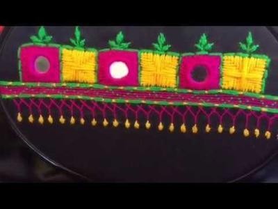 Hand Embroidery easy stitch how to make Balochi stitch