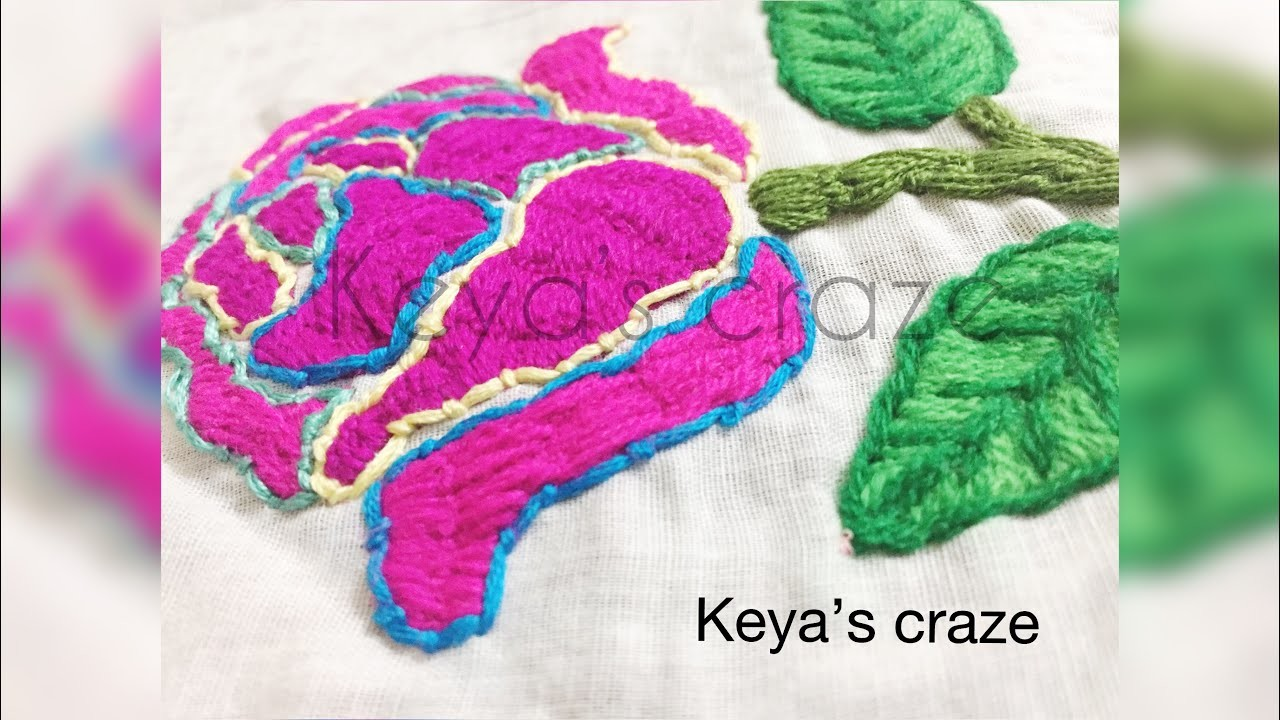 Hand embroidery for cushion cover | Bokhara couching stitch |keya's craze |151