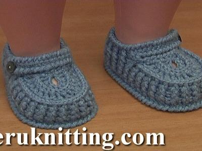How to Crochet Baby Booties Tutorial 64 Part 1 of 3