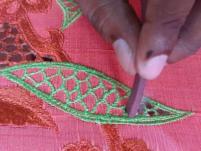 How to do Cutwork Embroidery using a Mosquito Coil