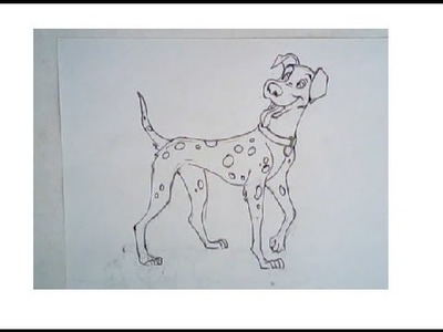 How to draw 101 dalmation (step-by-step drawing)