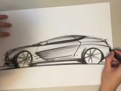 How to Draw a Car & Drawing and Sketching Tutorial