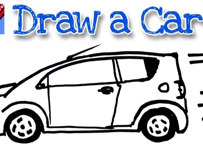 How to draw a car real easy - for kids and beginners