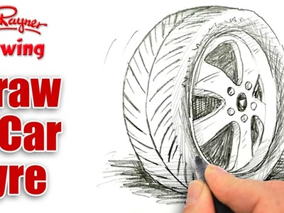 How to draw a Car Tire.Tyre - Spoken Tutorial