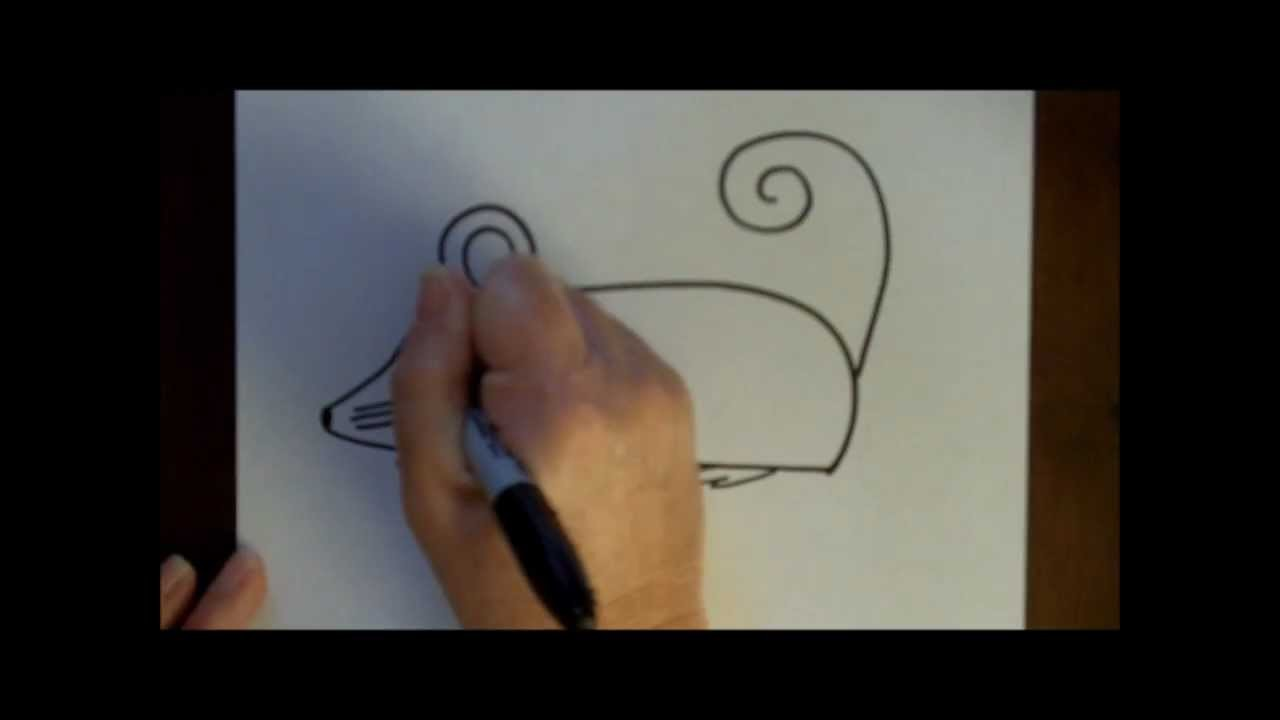 How to Draw a Cartoon Mouse Step by Step Drawing Tutorial for Beginners