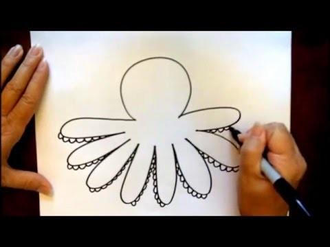 How to Draw a Cartoon Octopus Beginners Tutorial